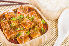 Tofu de Mapo Image libre de droits