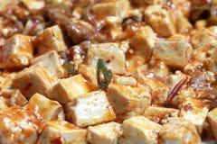 Tofu de Mapo - un aliment chinois populaire images libres de droits