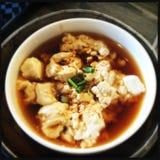 tofu del vapore con il pasticcio di pesce Immagini Stock Libere da Diritti