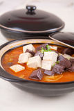 Tofu and duck blood Stock Image