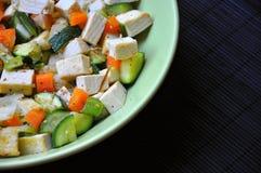 Tofu e vegetais Foto de Stock