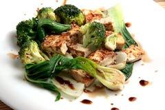 Tofu e verdure Fotografia Stock Libera da Diritti