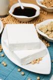 Tofu en andere sojaproducten Stock Foto
