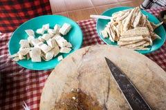 Tofu en tempe Royalty-vrije Stock Foto