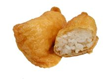 Tofu et riz frits Image libre de droits