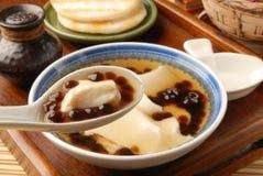 tofu för bollpuddingtapiokor Arkivbilder
