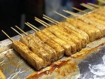 Tofu fermentado fétido com molho imagem de stock royalty free