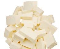 Tofu food. An cooking tofu food on white Stock Photo