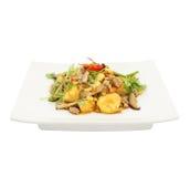 Tofu frit avec du porc et les légumes hachés photos libres de droits