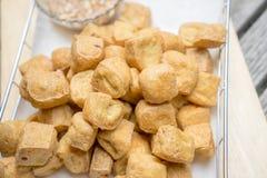Tofu fritto Immagine Stock