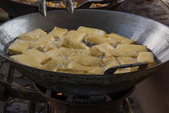 Tofu fritto Fotografia Stock