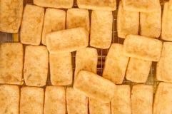 Tofu fritto Immagini Stock