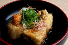 Tofu fritto giapponese. Fotografie Stock