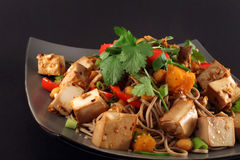 Tofu ginger vegetarian stir fry Stock Photo