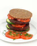 Tofu-hamburger Stock Fotografie