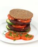 Tofu-hamburger Royalty-vrije Stock Foto's