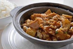 Tofu hete pot stock foto's