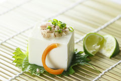Tofu. Hiyayakko - Japanese cold tofu cuisine for summer Stock Photography