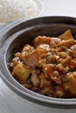 Tofu hot pot Stock Photography