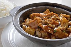 Tofu hot pot Stock Photos