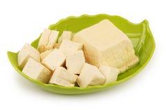 Tofu i bunke arkivbild