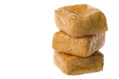 Tofu Isolated. Isolated image of beancurd or commonly known as tofu Stock Photography