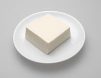 Tofu japanese on white dish Stock Image