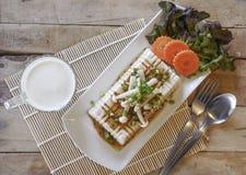 Tofu Lapje vlees, fusievoedsel Stock Foto's