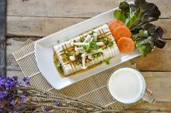 Tofu Lapje vlees, fusievoedsel Stock Afbeeldingen