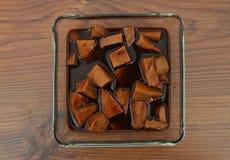 Tofu in marinata Fotografie Stock