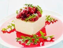 Tofu with marinated veggies Royalty Free Stock Photos