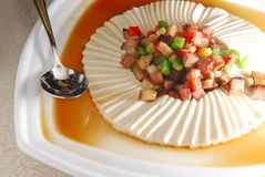 Tofu and meat. Steam tofu and meat vegetable Royalty Free Stock Photos