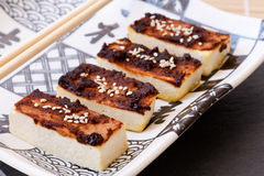 Tofu with Miso Marinade Stock Photography