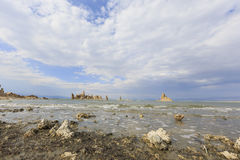 Tofu, Mono Lake with blue sky Royalty Free Stock Photo