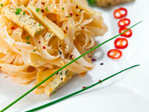 Tofu with noodles Royalty Free Stock Image