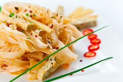 Tofu with noodles Stock Photography