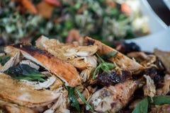 Tofu och haricot vert med morötter och selleri Royaltyfri Fotografi