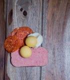 Tofu och haricot vert med morötter och selleri Royaltyfria Bilder