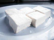 Tofu på en platta 02 Royaltyfri Fotografi