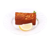 Tofu in paprika and lemon. Royalty Free Stock Photography