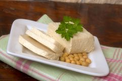 Tofu with parsley Royalty Free Stock Photography