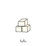 Tofu pictogram royalty-vrije stock foto's