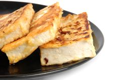 Tofu on plate Royalty Free Stock Images