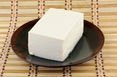 Tofu on plate Royalty Free Stock Photography