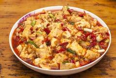 Tofu. A plate of fried tofu Royalty Free Stock Image