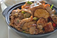 Tofu Pork hotpot Stock Images