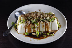Tofu Pudding. Tofu made with delicious appetizers Royalty Free Stock Photo
