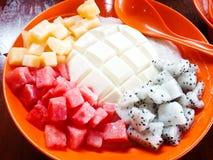 Tofu Pudding fruit Stock Photos