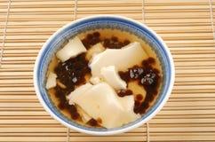 Tofu pudding with tapioca ball Stock Photo