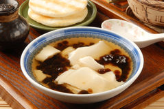 Tofu pudding with tapioca ball Royalty Free Stock Images